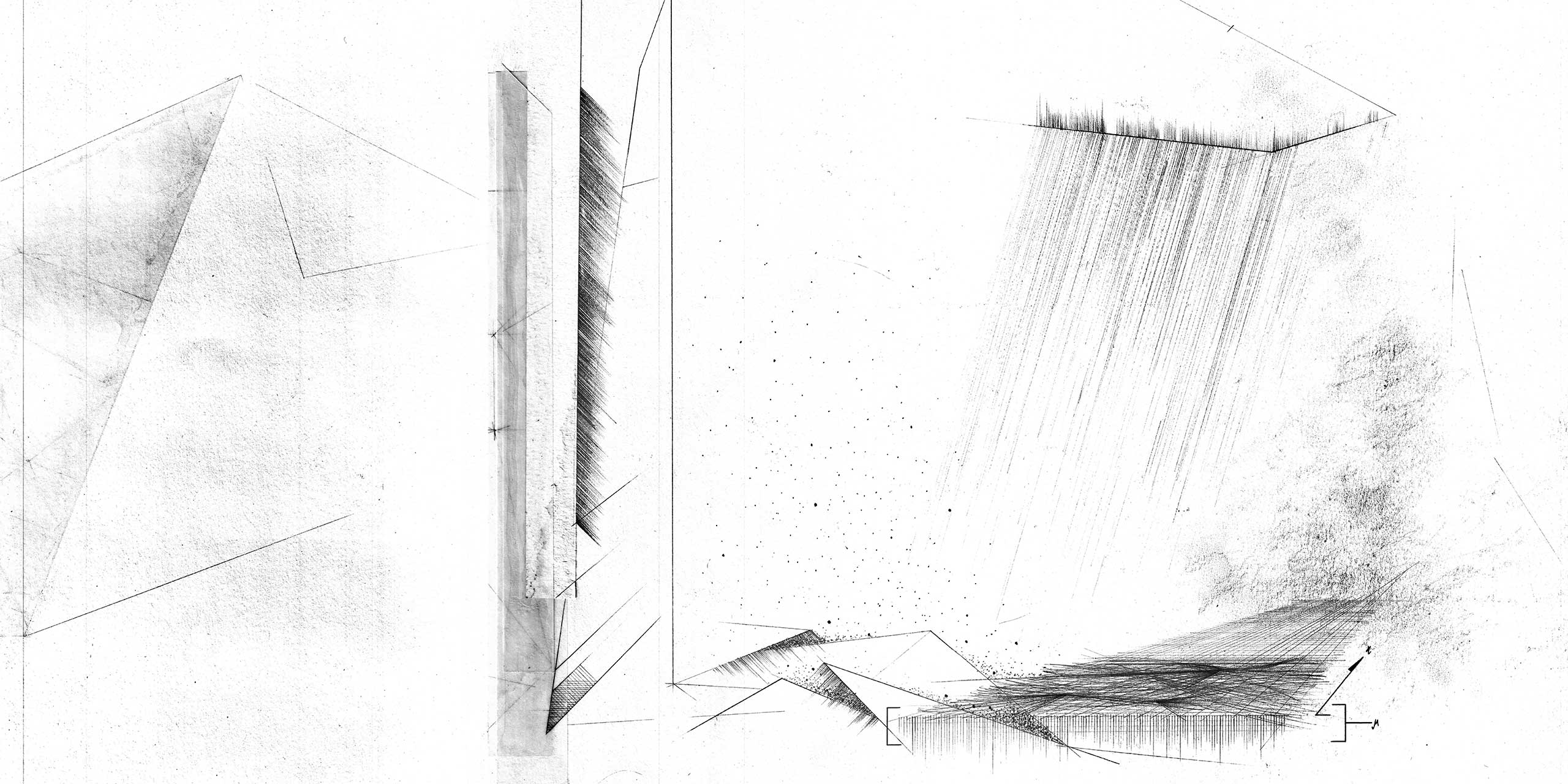 narrative hybrids museum inserted abstract section hand drawn architecture nottingham samuel critchlow sam